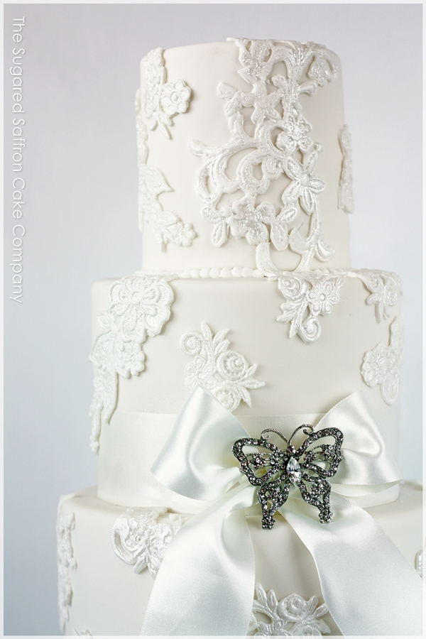 Lace wedding cake, London