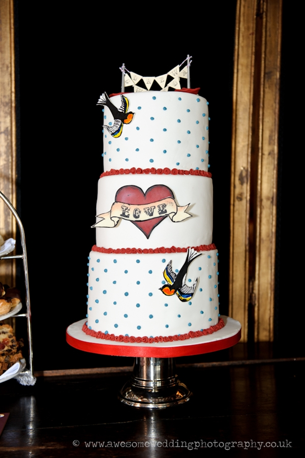 London Rockabilly Wedding Cake